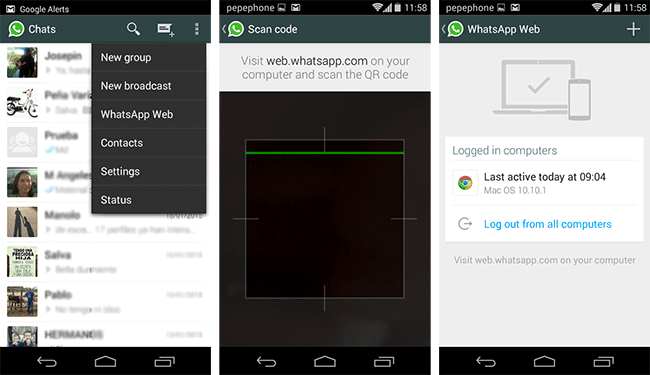 WhatsApp Web on your PC