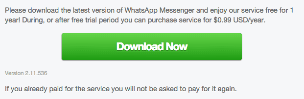 WhatsApp 2.11.536 Android