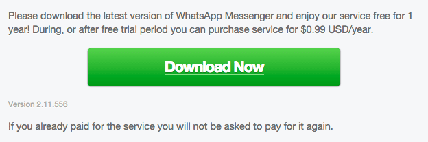 WhatsApp 2.11.556 Android