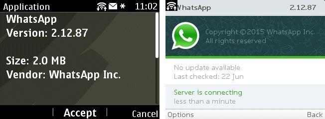WhatsApp Nokia Asha 2.12.87