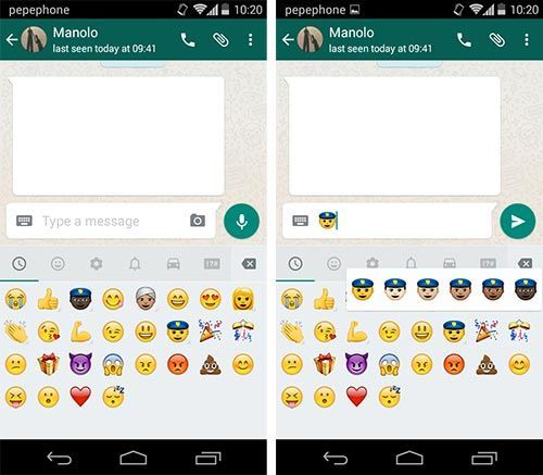 WhatsApp for Android adds racial emojis