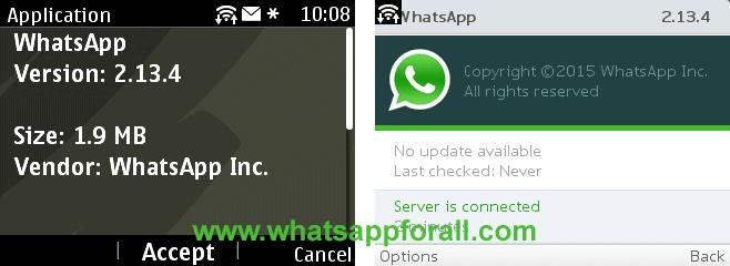 WhatsApp for Nokia Asha 2.13.4