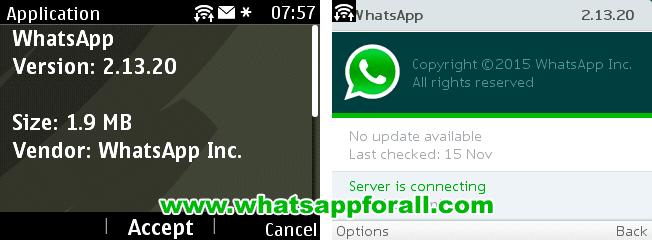 WhatsApp for Nokia Asha 2.13.20