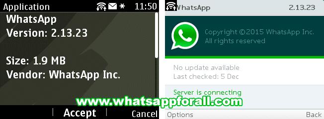 WhatsApp for Nokia Asha 2.13.23