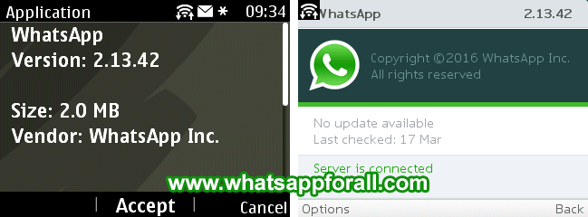 WhatsApp for Nokia Asha 2.13.42