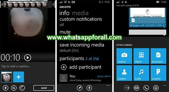 WhatsApp for Windows Phone 2.12.344