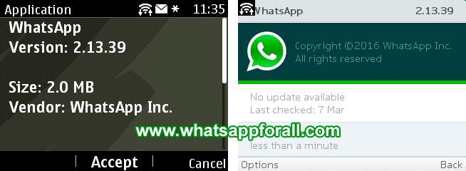 WhatsApp for Nokia Asha 2.13.39