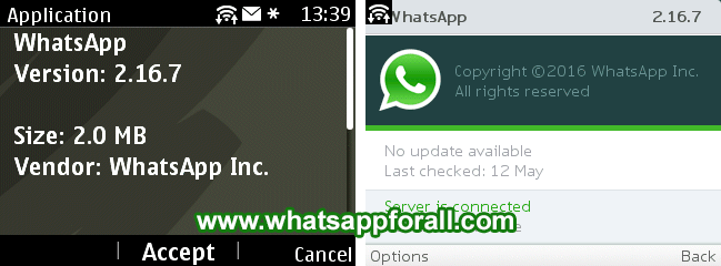 WhatsApp 2.16.7 Nokia Asha