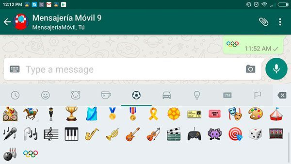 WhatsApp for Android adds emoji of the Olympic Games