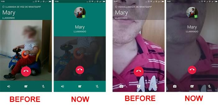 WhatsApp for Android modifies the call and video call interface