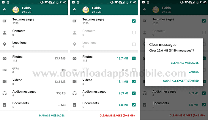 delete whatsapp files