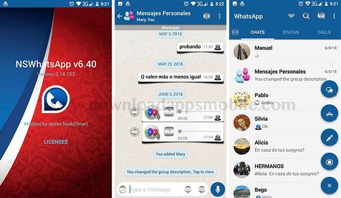NS WhatsApp 3D v6.40