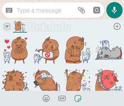 Sticker Reactions in WhatsApp