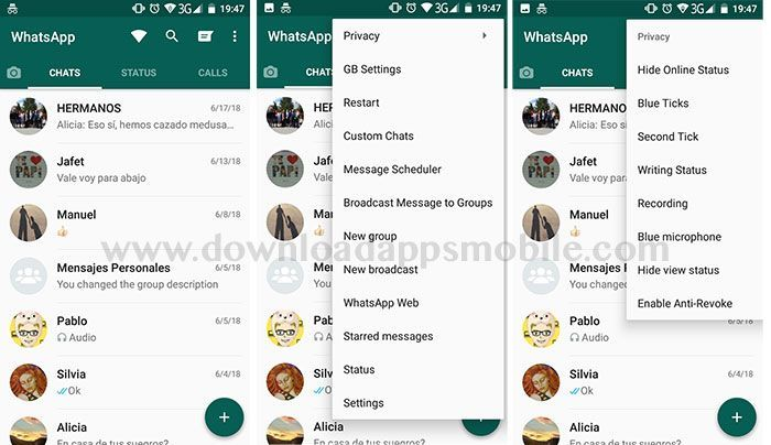 Become invisible in WhatsApp