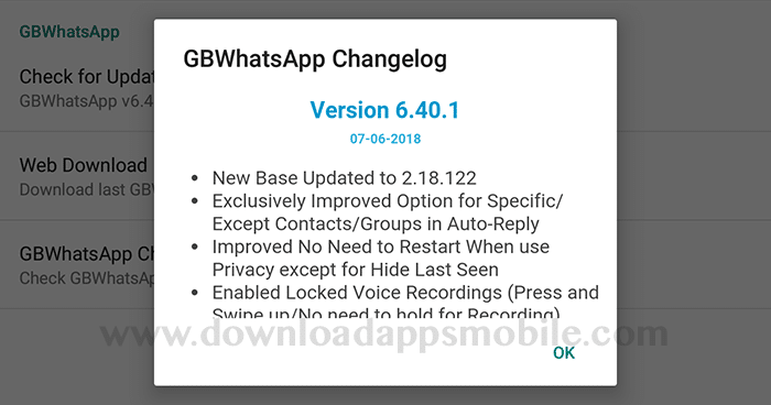 GBWhatsApp Plus updated to version 6.40.1
