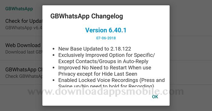 image GBWhatsApp Plus version 6.40.1