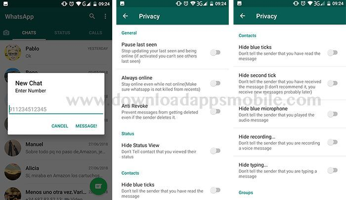 image WhatsApp B58 Mini Privacy