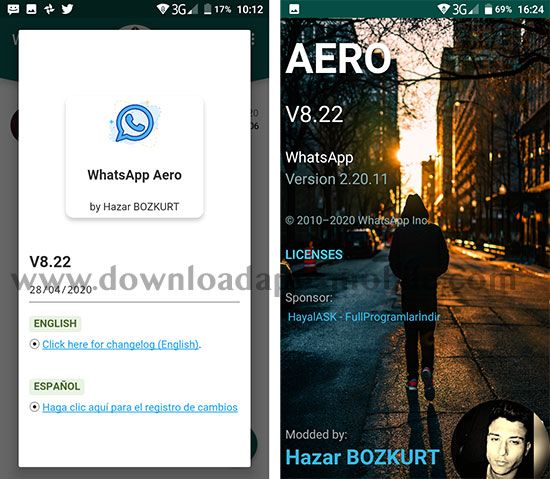 WhatsApp Aero 8.22