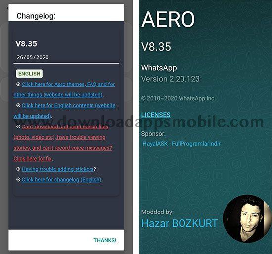 WhatsApp Aero 8.35