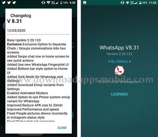 WhatsApp PLUS JiMODs 8.31