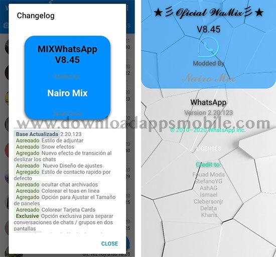 WhatsApp Mix 8.45