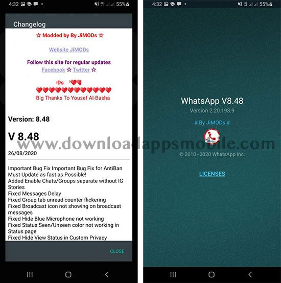 WhatsApp PLUS JiMODs 8.48 image