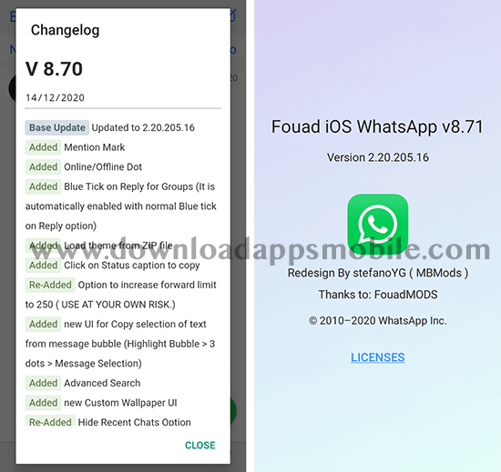 image with the latest news of MBWhatsApp 8.71