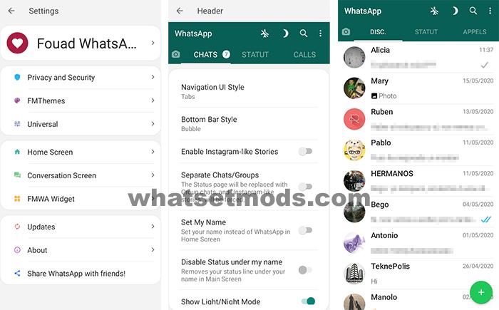 Fouad WhatsApp comme le WhatsApp original