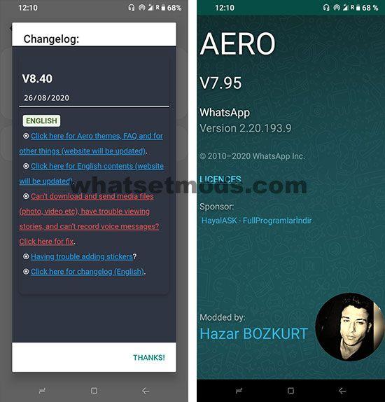 image WhatsApp Aero 8.40