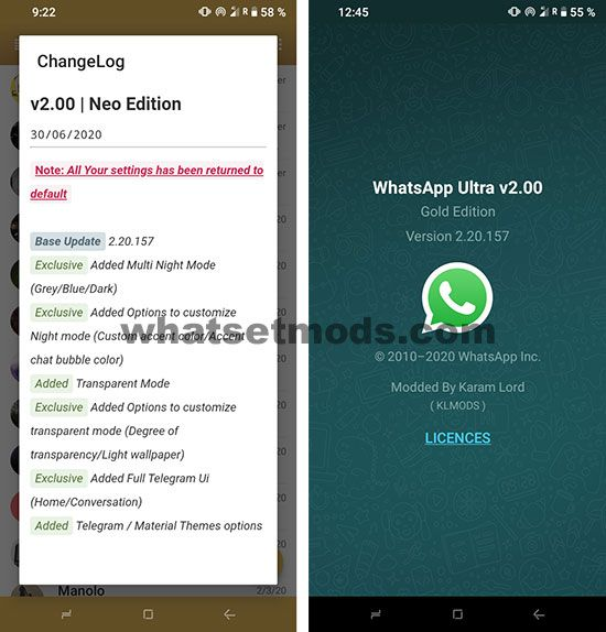 image news dernière version de WhatsApp Gold