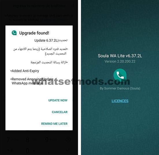 image avec le dernier Soula WA Lite 6.37.2L Extended
