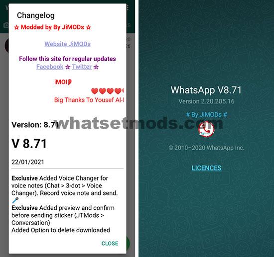 image avec la dernière version de WhatsApp Plus Jimods 8.71