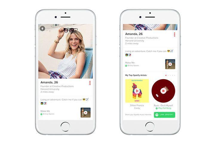 Tinder y Spotify