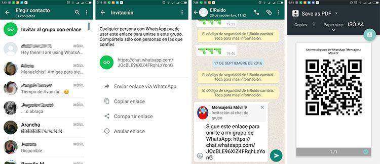WhatsApp añade las invitaciones a grupos con enlace