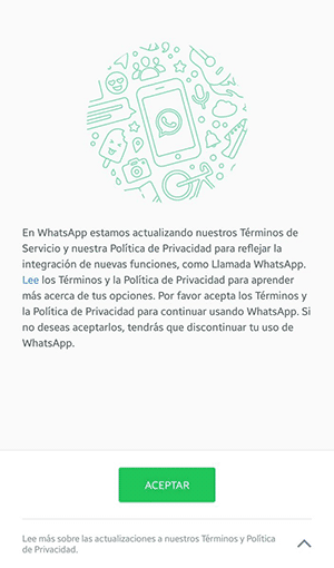 condiciones de WhatsApp