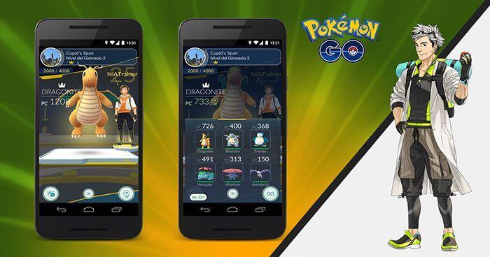 Pokémon GO permitirá que nos entrenemos en Gimnasios