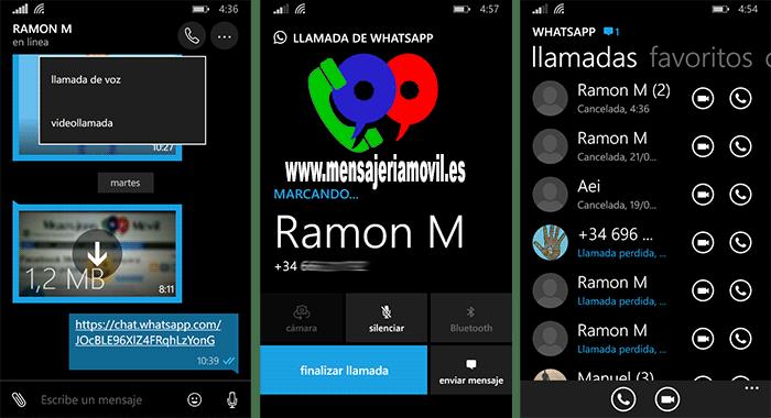 Las Videollamadas llegan a WhatsApp para Windows 10 Mobile