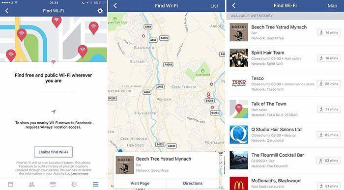 Facebook te buscará redes Wi-Fi gratuitas