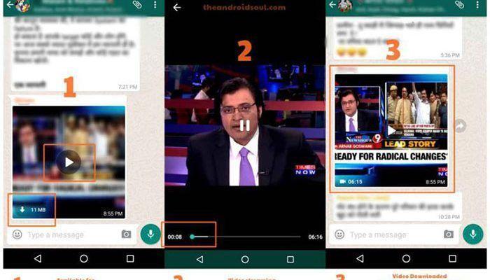WhatsApp ya prueba el video en streaming