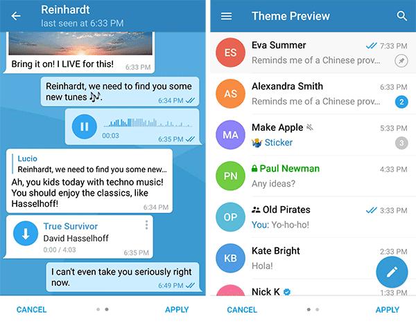 temas en Telegram
