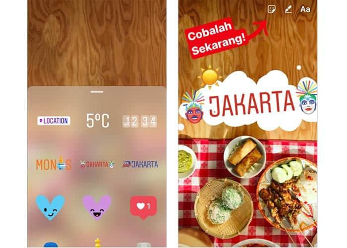 Instagram y sus nuevos geostickers