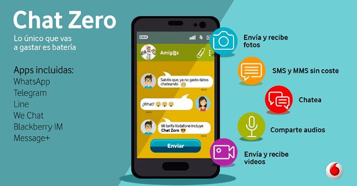 WhatsApp gratis gracias a Chat Zero de Vodafone