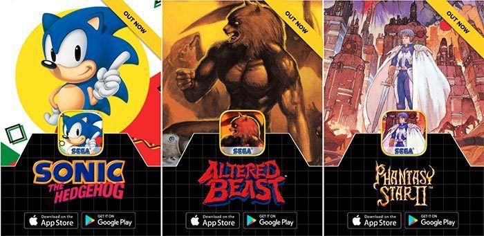 Sega lanzará todos sus mejores juegos para Android y iOS