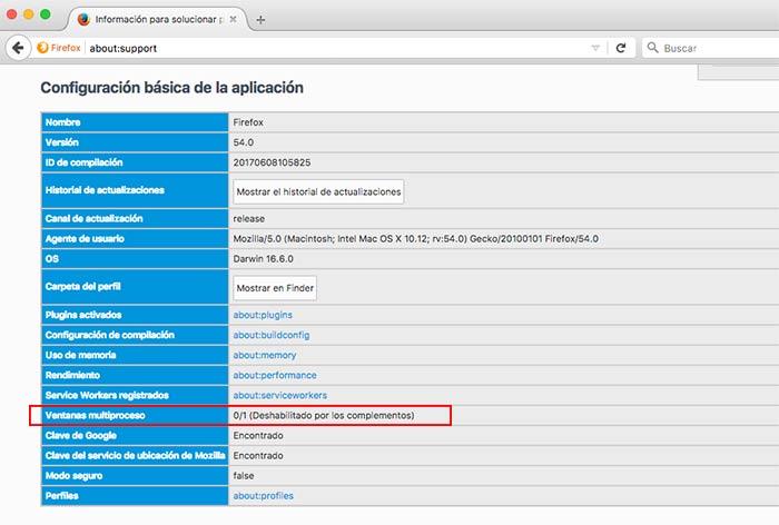 Activar el multiproceso en Firefox