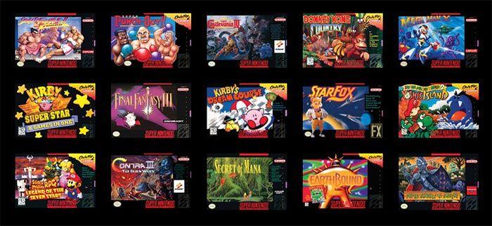 imagen juegos SNES Classic