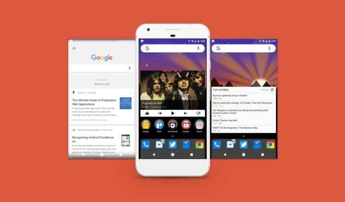 Nova Launcher dentro de Google Now