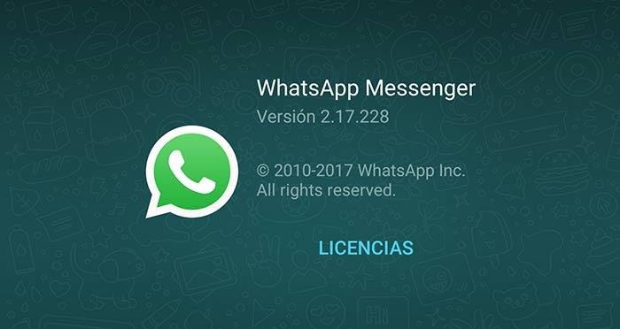 WhatsApp para Android se actualiza a la versión 2.17.228