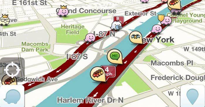 Waze te ofrece información de los mapas en el modo offline