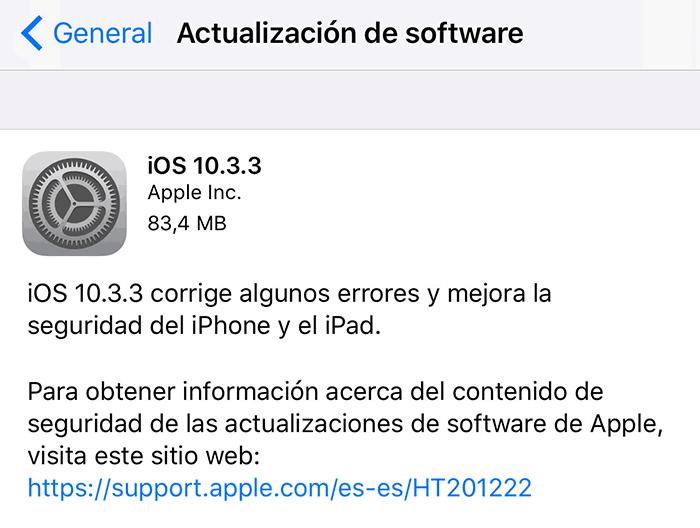 imagen iOS 10.3.3