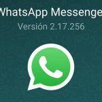 WhatsApp para Android actualiza su beta a la versión 2.17.256